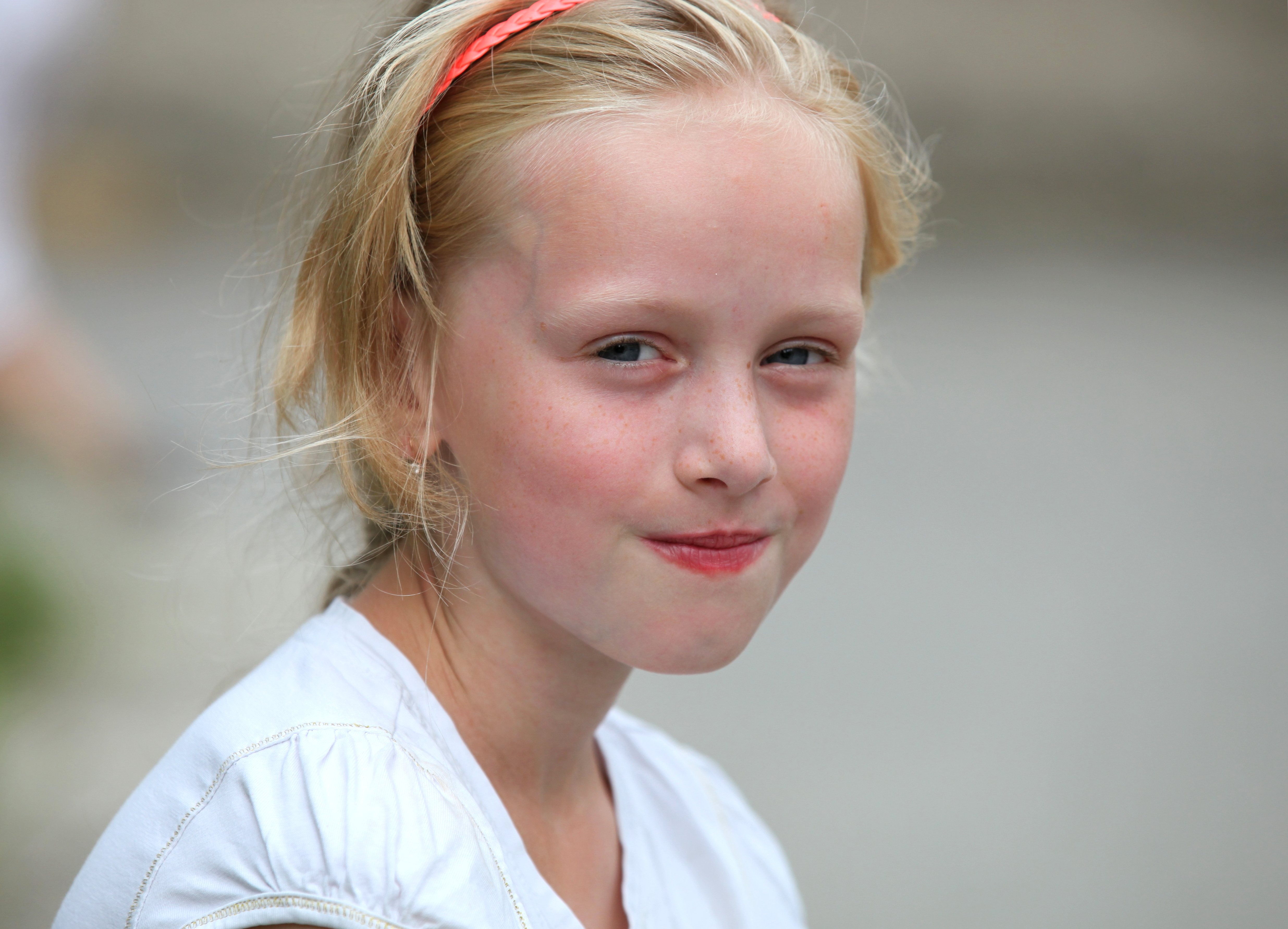 a really cute young blond charming girl (a Catholic Christian) in a Christian camp in July 2013, picture 4/8
