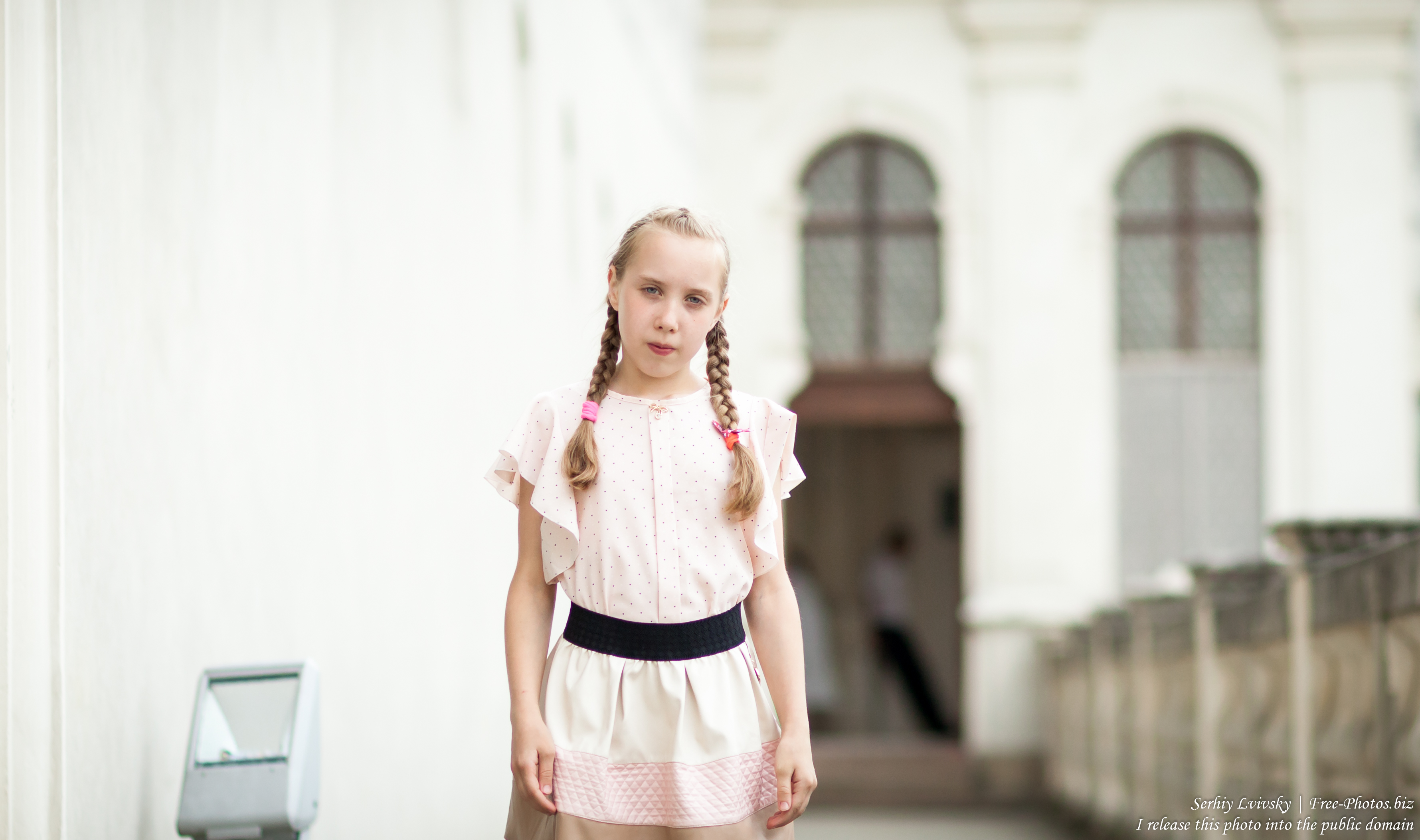 a child girl at Catholic recollections in Poland in July 2017, picture 4