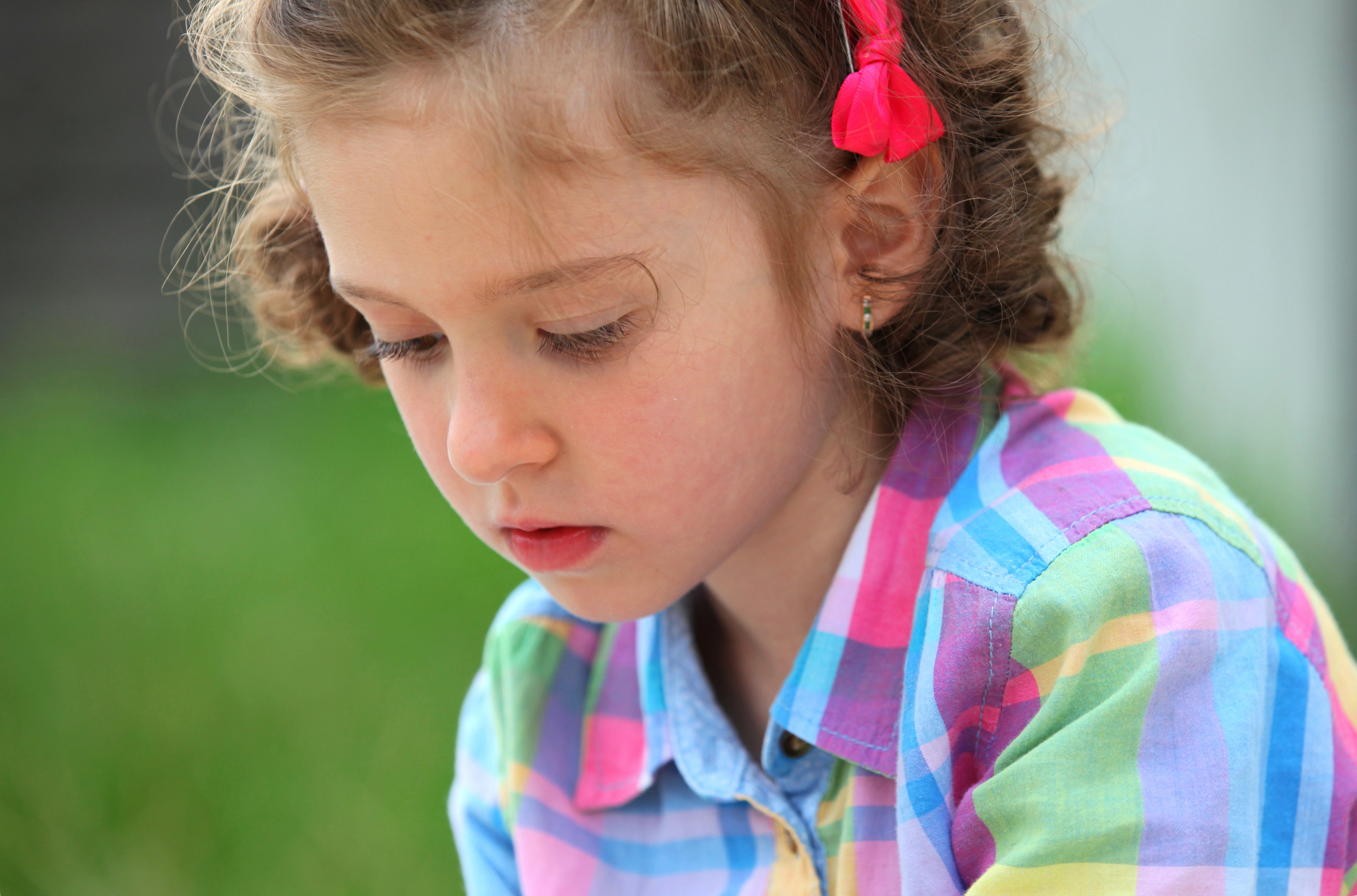 an amazing sweet child girl in a Christian camp, photographed in July 2013, portrait 7/14