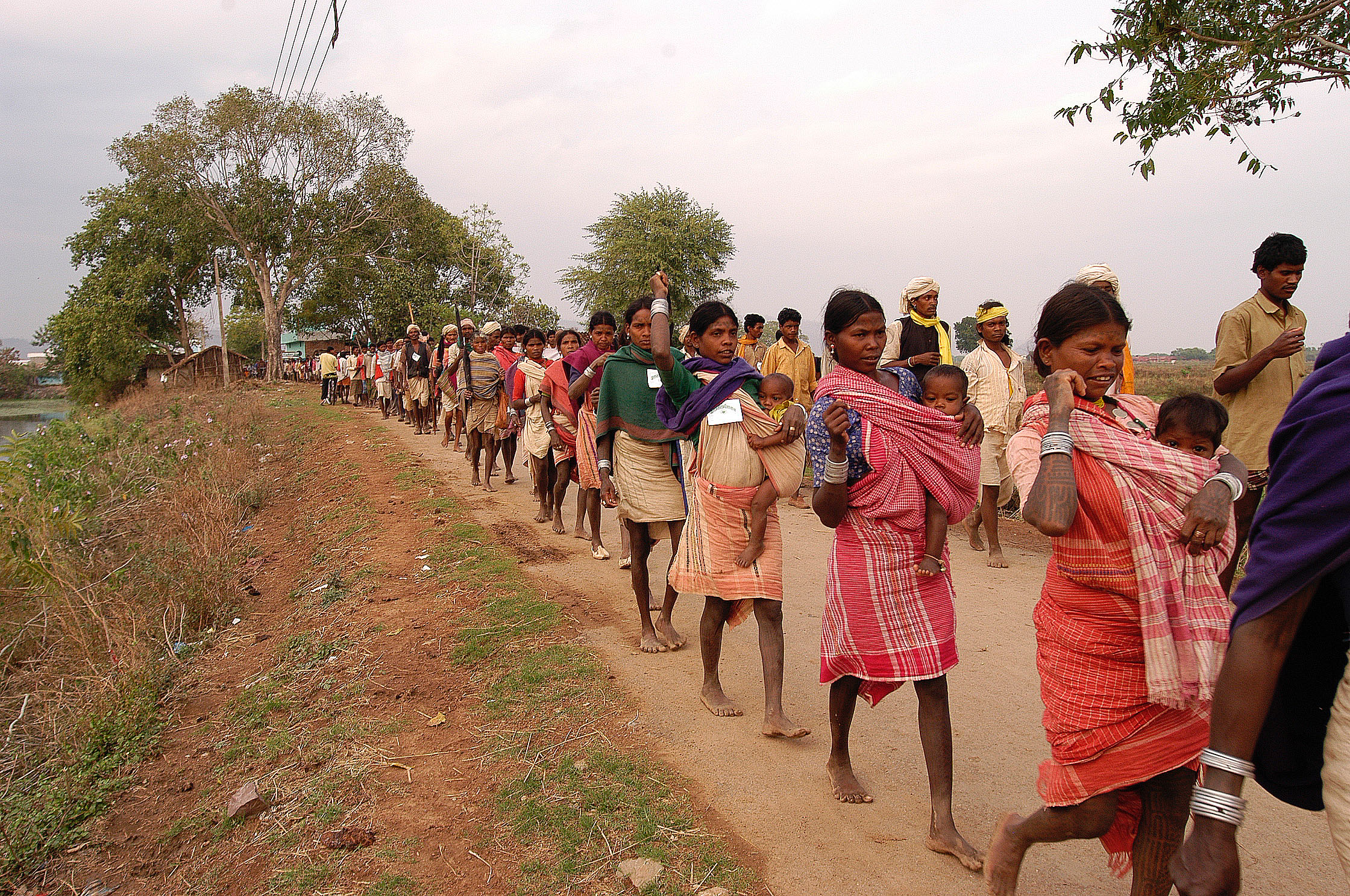 Baiga adivasi in protest walk, India