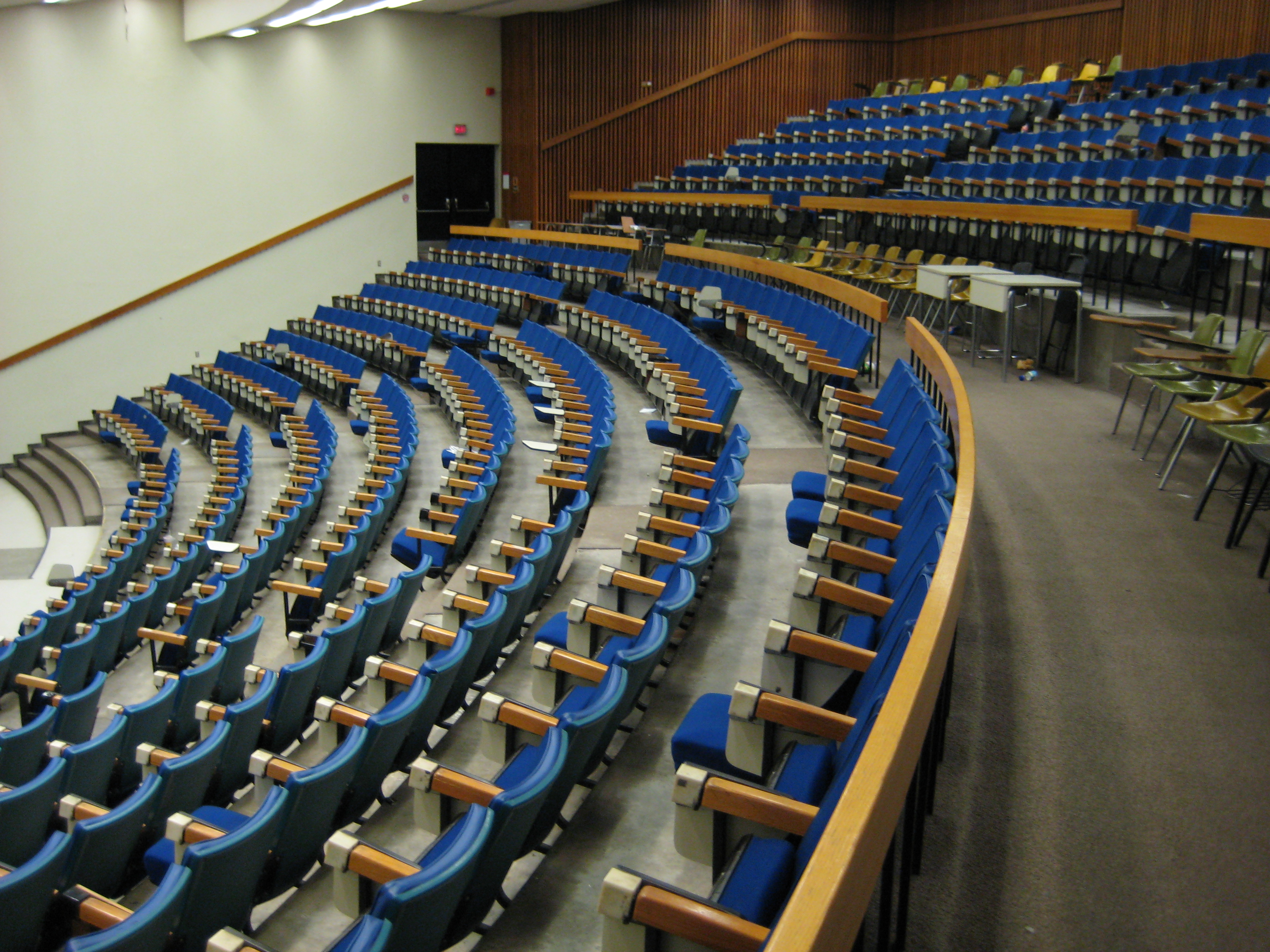 Curtis Lecture Halls interior view2 empty class