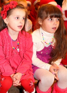 cute Catholic girls at st. Nicholas day celebration in a Catholic kindergarten, photo 3
