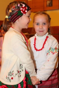 two child girls having fun in a Catholic kindergarten