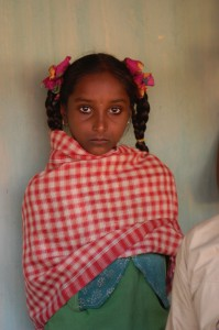a young girl in Pitama, India