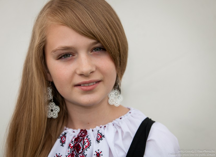 a blond 13-year-old girl photographed in June 2015, picture 18