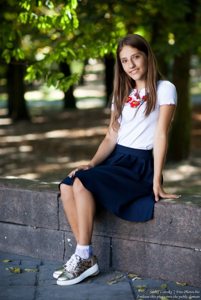 a brunette schoolgirl photographed in September 2016, picture 3
