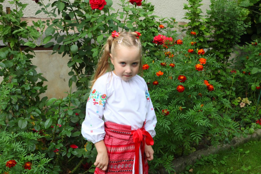A child girl in a national dress