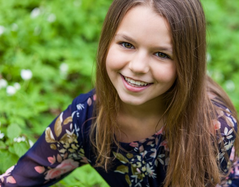a cute 12-year-old girl photographed in May 2015, picture 6