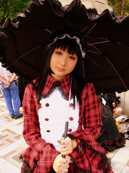 A girl with a lolita fashion