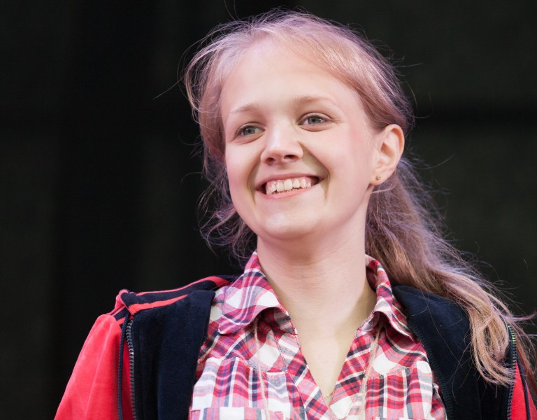 a young cute blond girl photographed in July 2014, picture 8