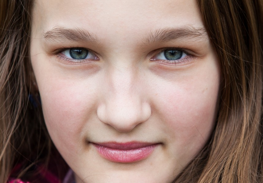 an amazingly beautiful Catholic 12-year-old girl photographed in April 2014, picture 27, cropped
