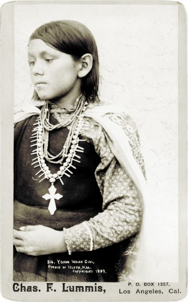 Charles Lummis, Young Indian girl, pueblo of Isleta, New Mexico, 1890