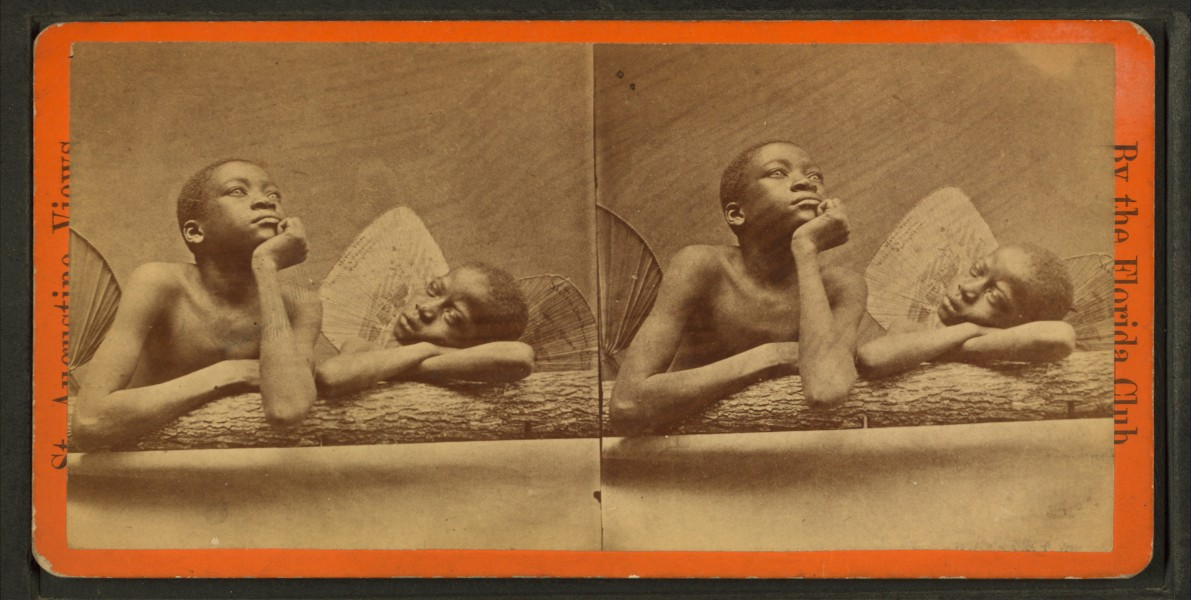Cherubs, from Robert N. Dennis collection of stereoscopic views