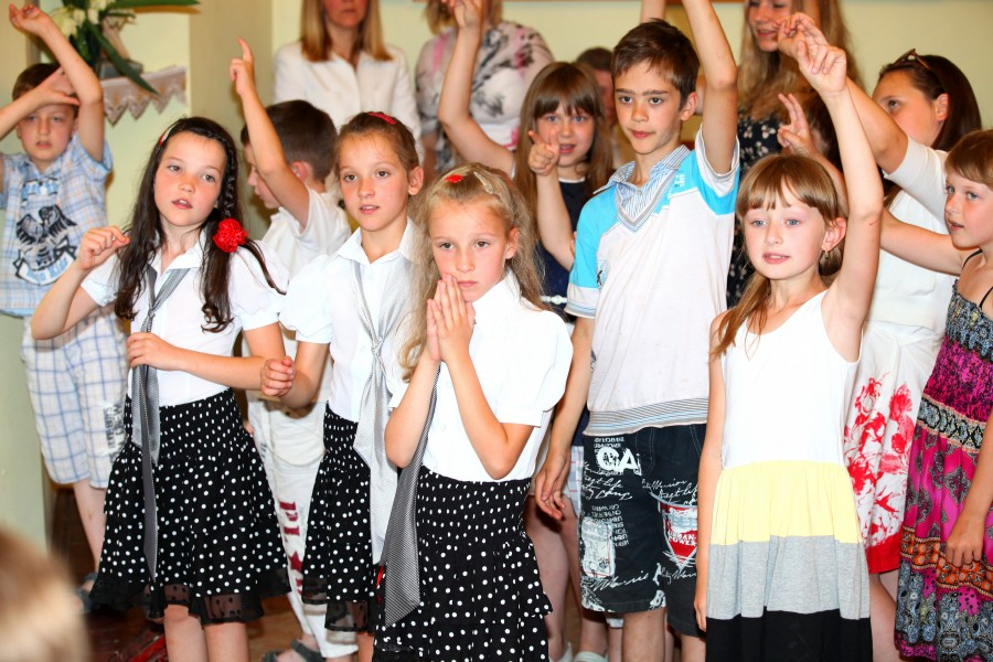 children in a Catholic church in July 2013