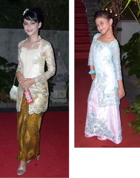 Kebaya modern for lady and child