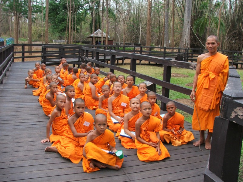 Novice in the Buddhist religion group