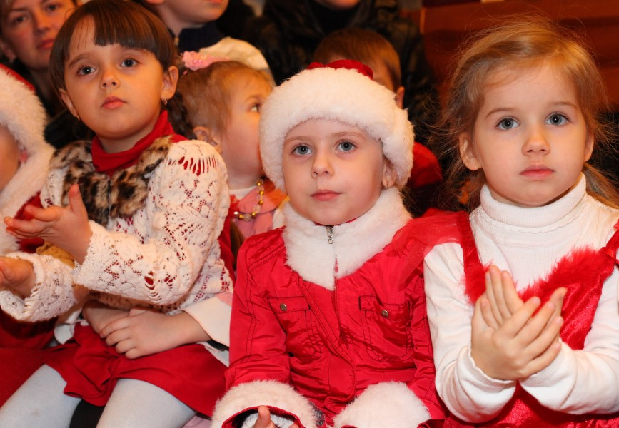 cute girls at the st. Nicholas day celebration in a Catholic kindergarten, photo 10