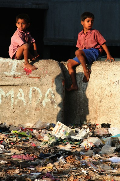 Two boys in Dharavi