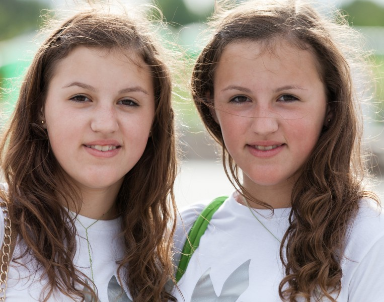 two girls photographed in July 2014