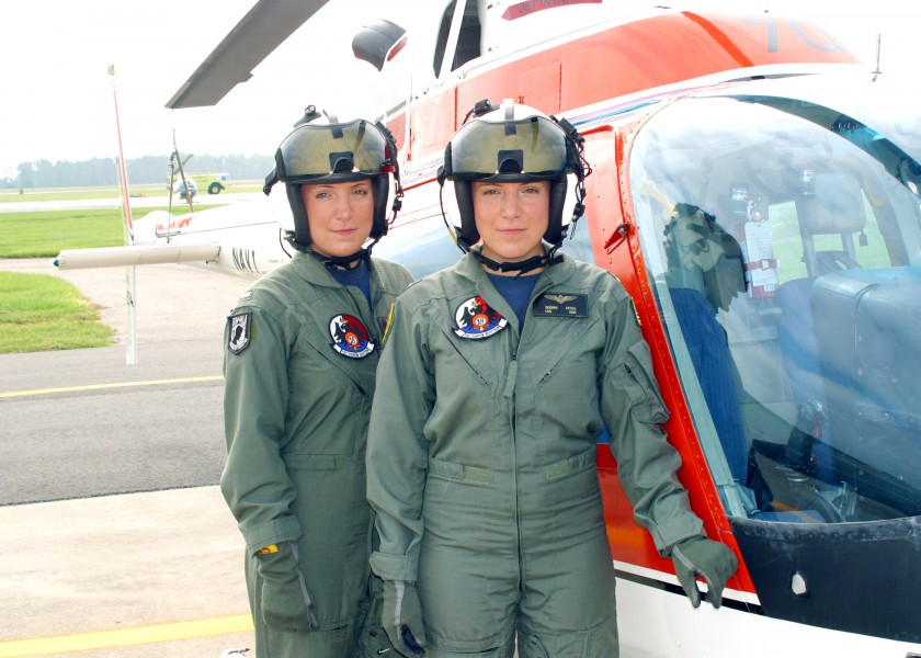 US Navy 040811-N-0000X-003 dentical twins Lt. j.g. Deborah, right, and Christa Kieszek recently received their Navy pilot^rsquo,s ^ldquo,Wings of Gold^rdquo, at Naval Air Station Whiting Field