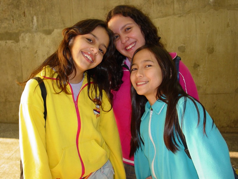 Young Girls in Sao Bento Metro Station - Sao Paulo - Brazil