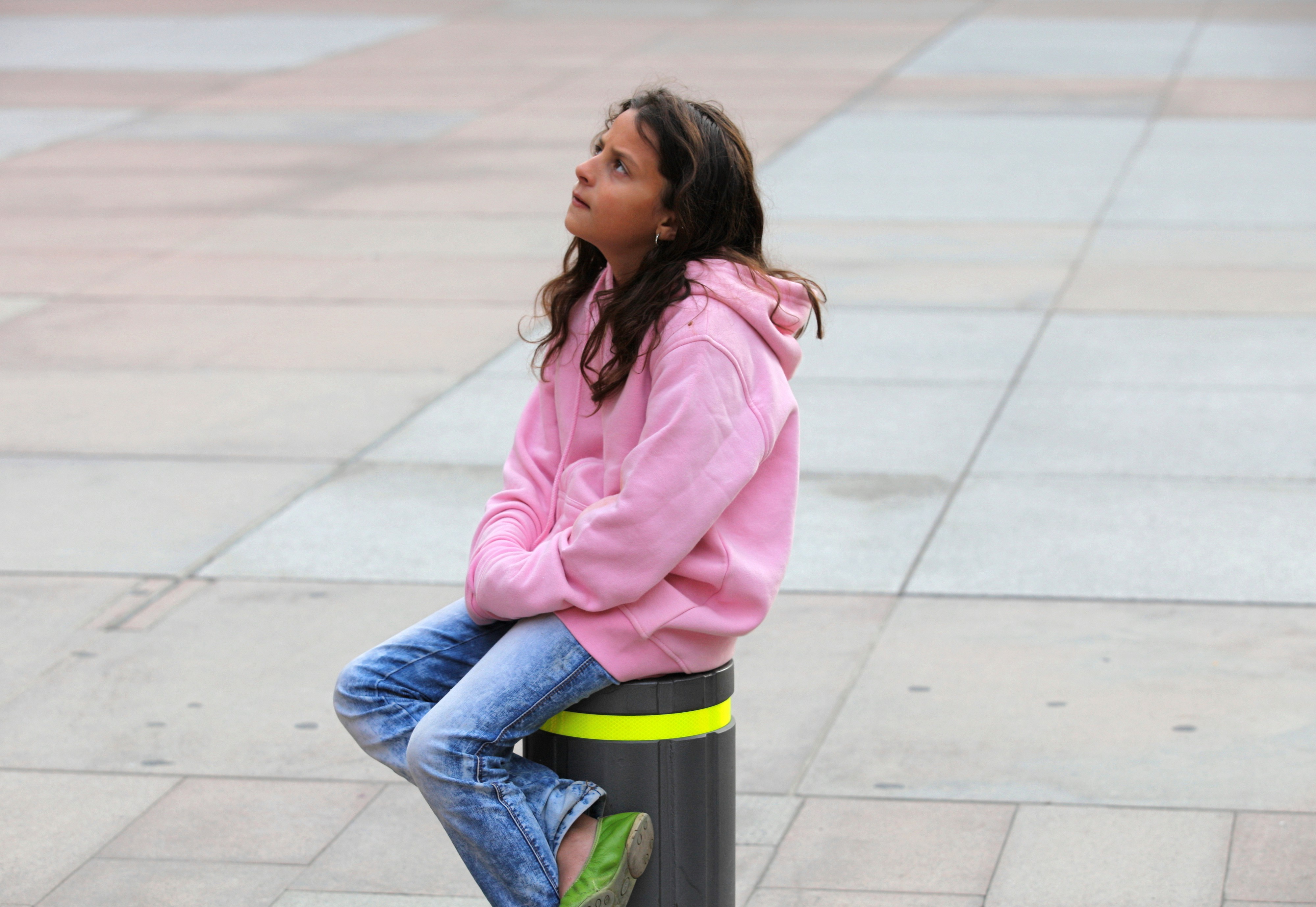 a child girl photographed in Montserrat, Spain, in August 2013, picture 2/4