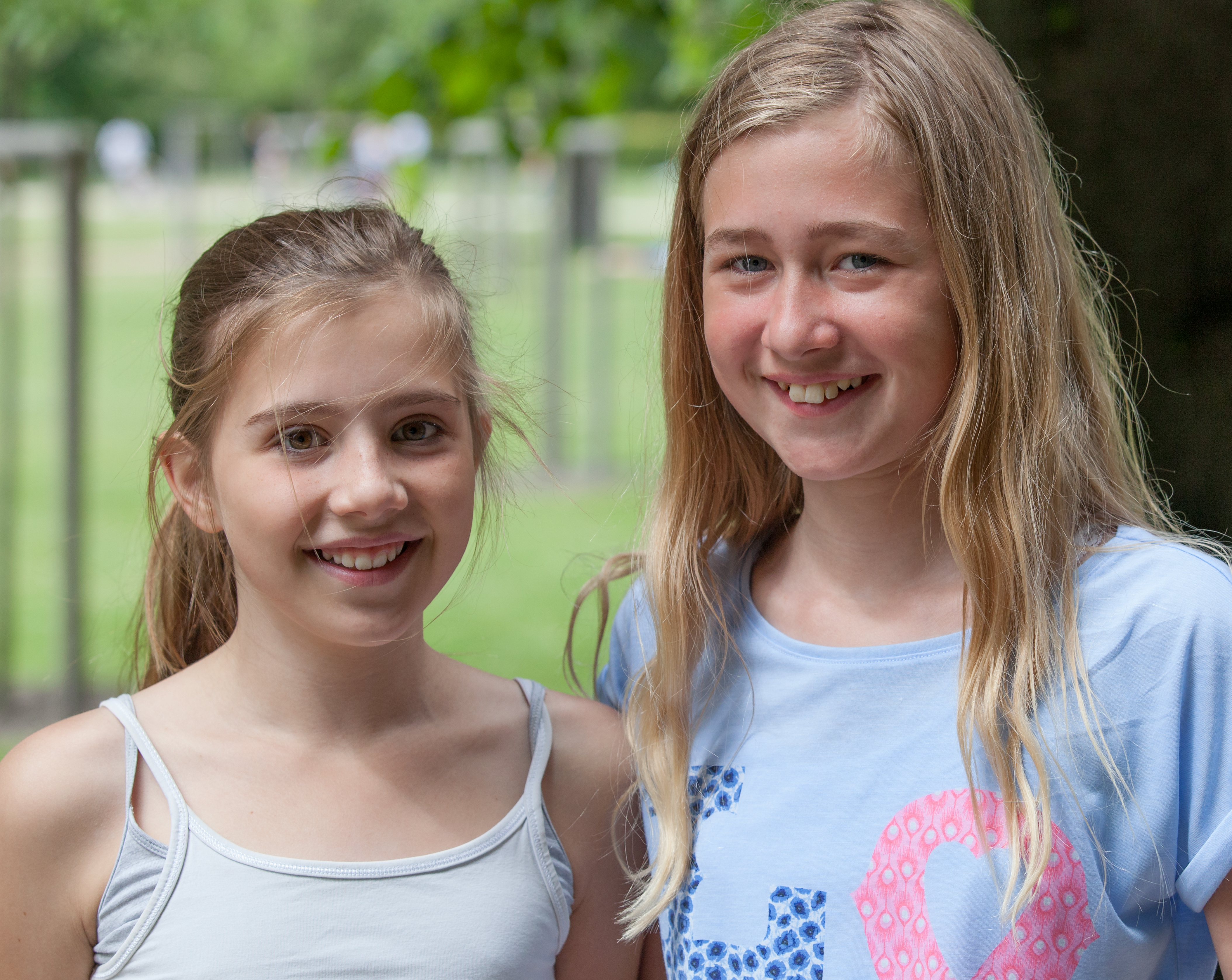 two young girls photographed in Copenhagen, Denmark, in June 2014, image 2/2
