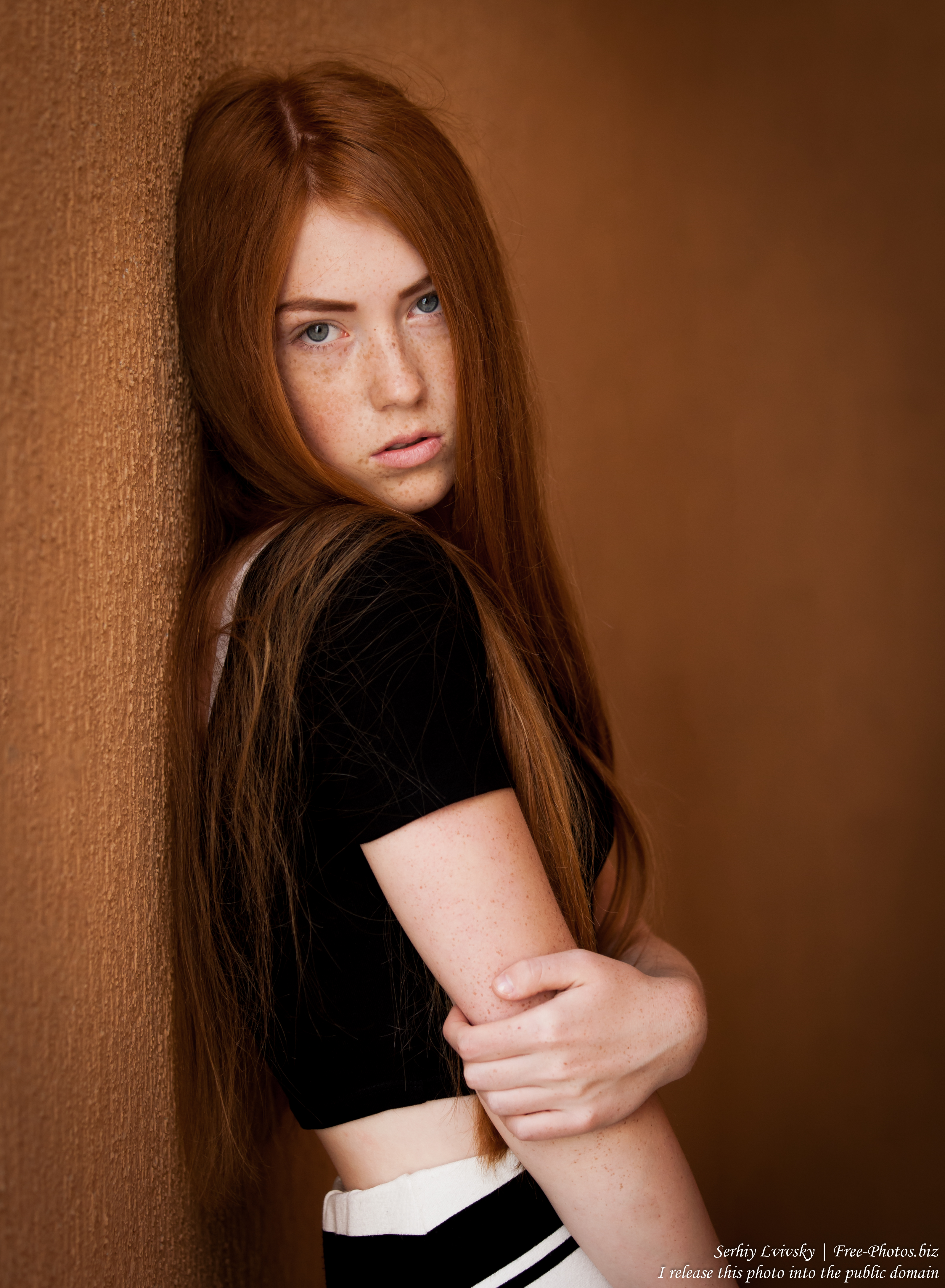 a 15-year-old red-haired Catholic girl photographed by Serhiy Lvivsky in August 2015, picture 16