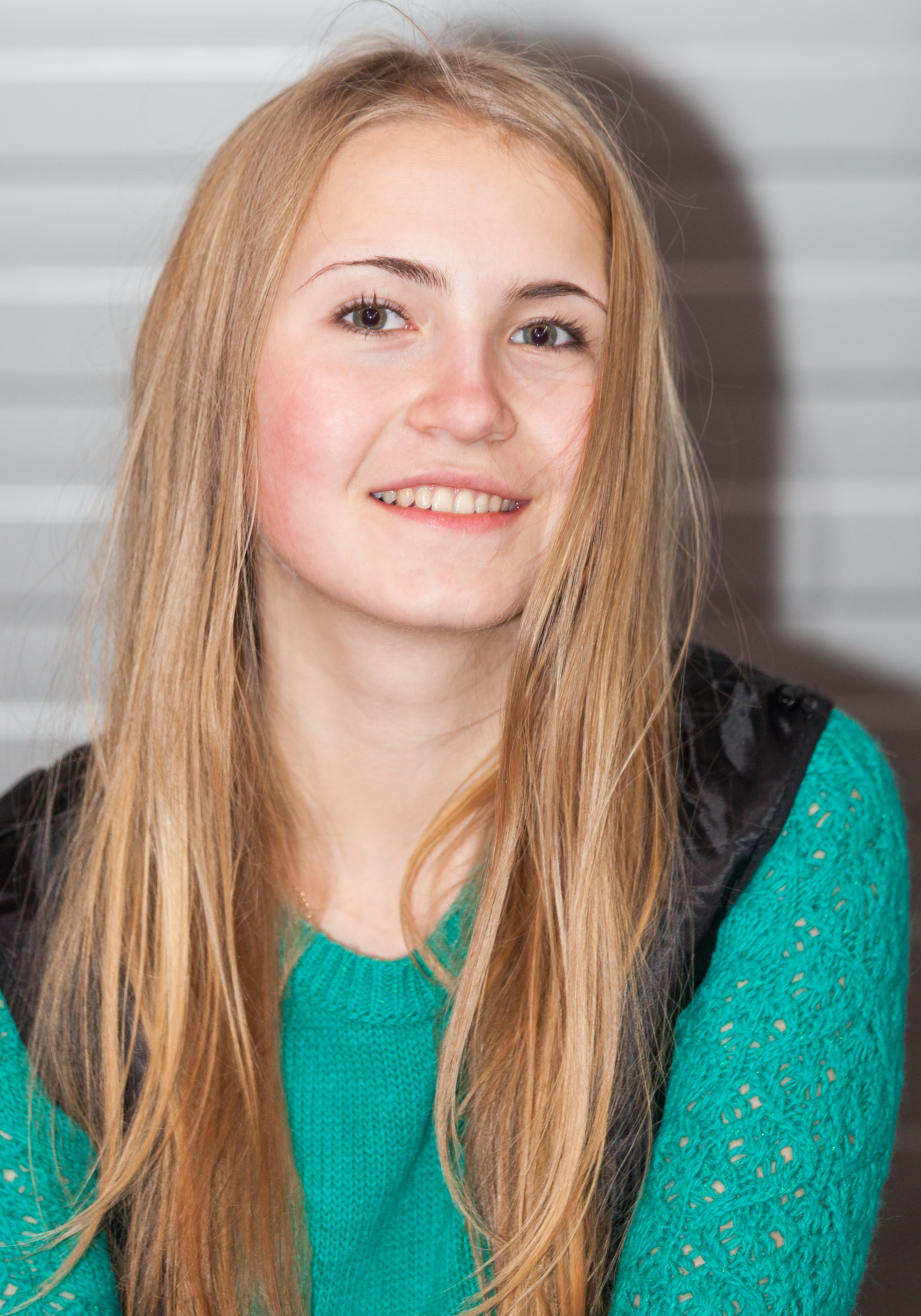 a beautiful blond Catholic girl photographed in December 2014, picture 3
