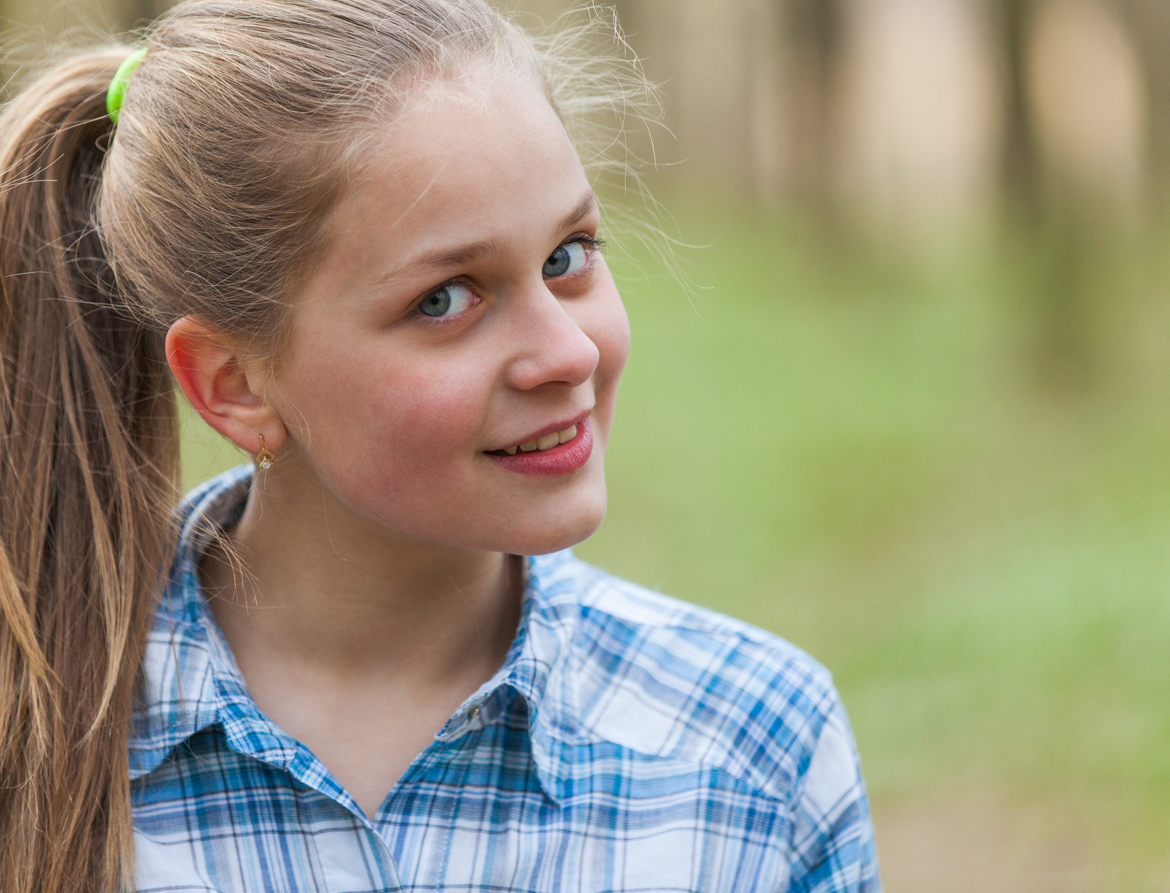 a cute blond 12-year-old girl photographed in April 2015, picture 7