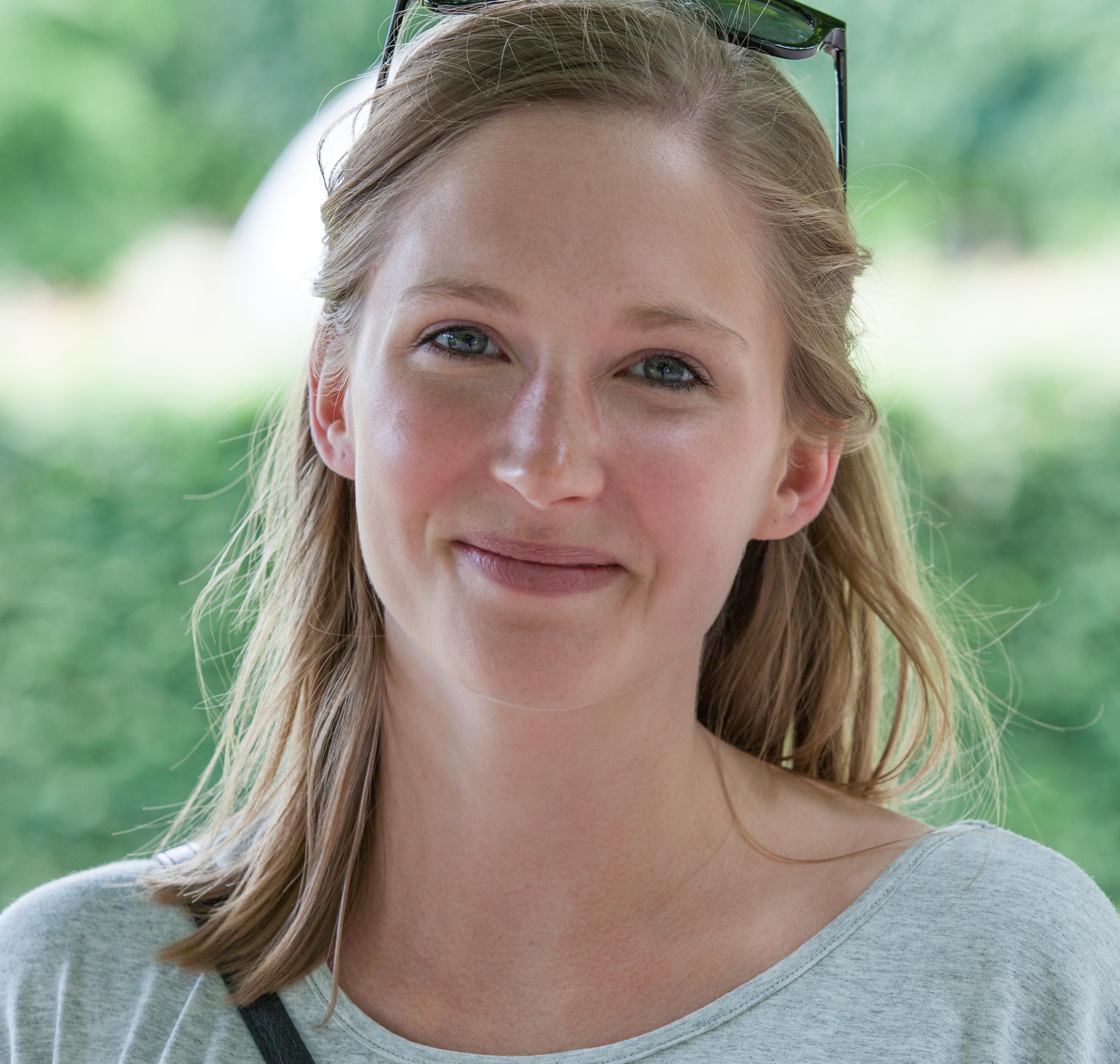 Photo of a cute fair-haired girl in Copenhagen, Denmark