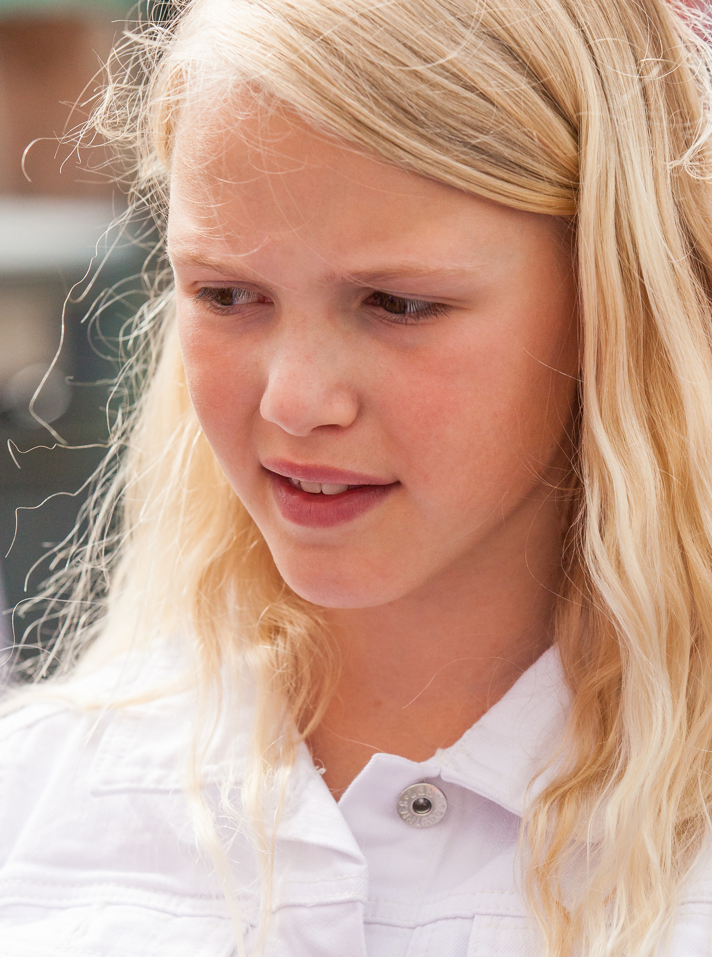 Photo of a pretty blond girl photographed in Uppsala