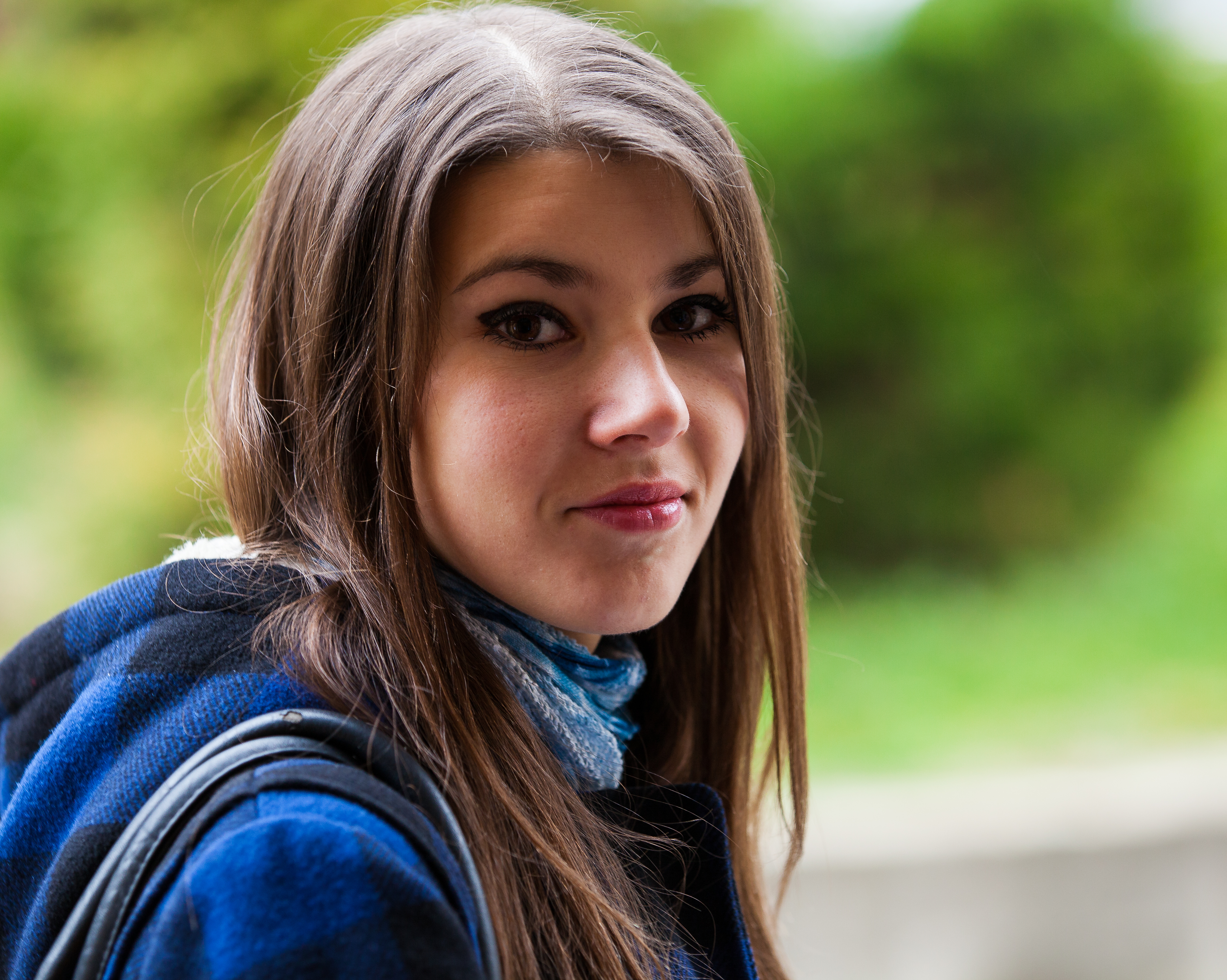an exceptionally beautiful brunette Catholic girl photographed in November 2013, picture 18 out of 19