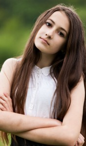 a 13-year-old brunette girl photographed in May 2015, picture 23