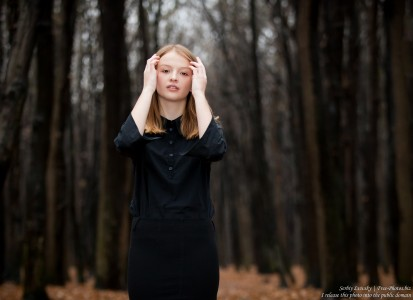 a 13-year-old Catholic girl photographed by Serhiy Lvivsky in November 2015, picture 4