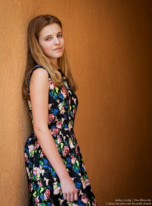 a 14-year-old blond Roman-Catholic girl photographed in July 2015, picture 23
