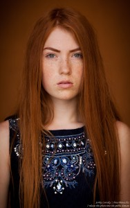 a 15-year-old red-haired Catholic girl photographed by Serhiy Lvivsky in August 2015, picture 6