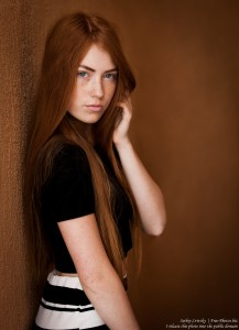 a 15-year-old red-haired Catholic girl photographed by Serhiy Lvivsky in August 2015, picture 18