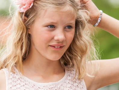 a blond beautiful girl photographed in Sigtuna, Sweden in June 2014, picture 9 out 20