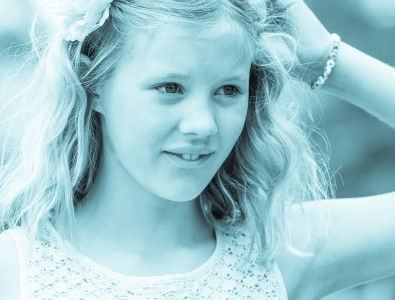 a blond beautiful girl photographed in Sigtuna, Sweden in June 2014, picture 11 out 20, a monochrome version