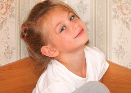 a cute child girl photographed in July 2013, portrait 5/10