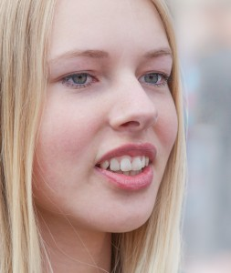 a cute fair-haired girl in Copenhagen, Denmark, in June 2014, picture 68