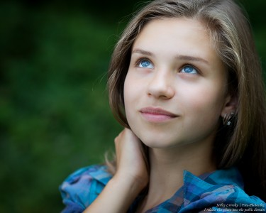 a pretty 13-year-old Catholic girl photographed in August 2015 by Serhiy Lvivsky, picture 6