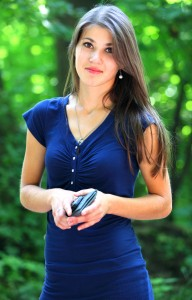 a stunningly beautiful brunette Catholic girl photographed in July 2013, portrait 11/15