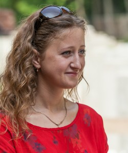 a young Catholic pretty girl photographed in June 2014
