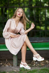 Ania - a 14-year-old natural blonde girl photographed by Serhiy Lvivsky in August 2017, picture 34