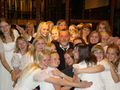 Estonian TV Girls' Choir with conductor Urmas Sisask at St Paul's cathedral in London