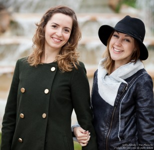 two cute girls photographed in January 2016, picture 2