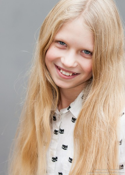 a 12-year-old natural blond Catholic girl photographed by Serhiy Lvivsky in November 2015, picture 1