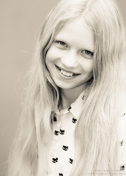 a 12-year-old natural blond Catholic girl photographed by Serhiy Lvivsky in November 2015, picture 2